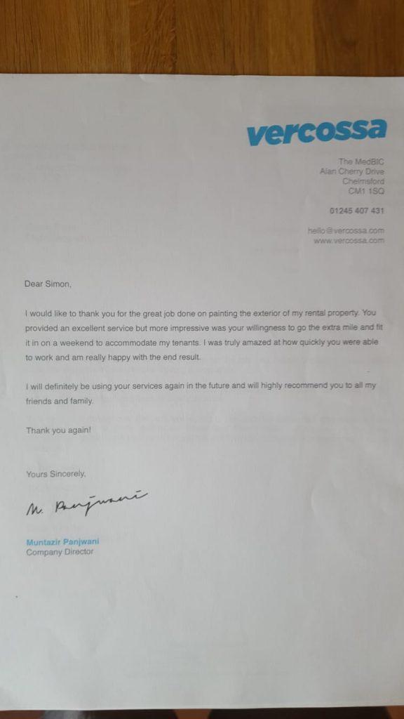 Testimonial letter flight decorating 5