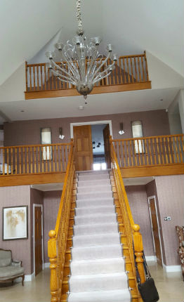 Split staircase and hall decorated Colchester