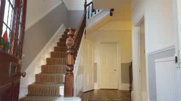 Staircase decorated in Essex